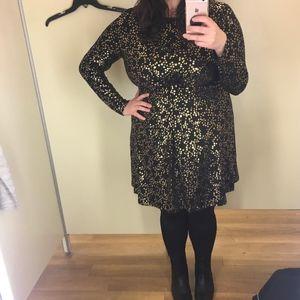 Michael Kors Black Dress with Gold Stars